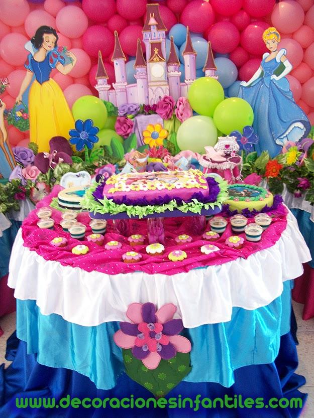 Decoraciones infantiles - Decoracion fiesta princesas disney ...