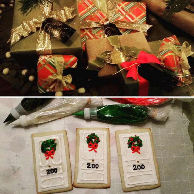 Christmas door cookies