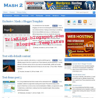 Mash2 Blogger Template Preview