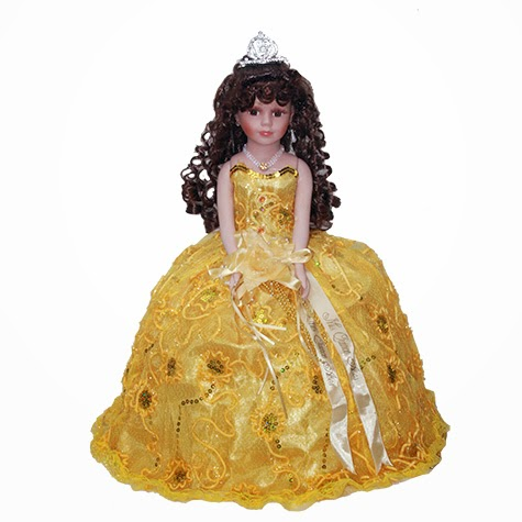 quinceanera doll sleveless porcelain umbrella