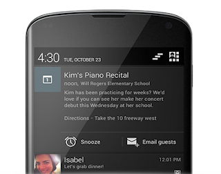 Android 4.3 jelly bean expandable notification