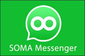 perbedaan aplikasi SOMA massenger dengan WhatSapp messenger