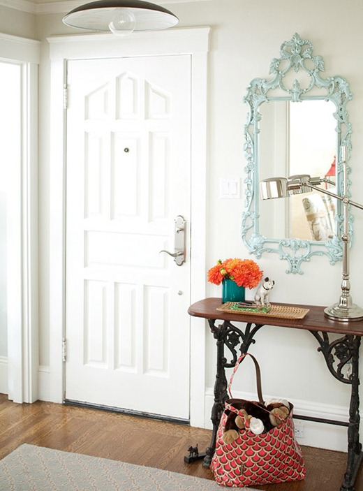 Small Foyer Table And Mirror : Simple details ideas for a small entry