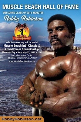 THE BLACK PRINCE ROBBY ROBINSON MUSCLE BEACH HALL OF FAME INDUCTEE  2013 BUILT- Instructional Double DVD - Robby's philosophy on bodybuilding,  training and healthy lifestyle, and his old-school workout approach  ▶ www.robbyrobinson.net/dvd_built.php
