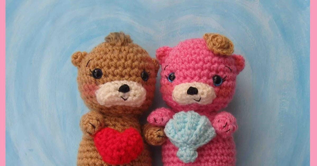 Free Onigiri Couple Amigurumi Crochet Pattern By Handmadekitty : HandmadeKitty: Otter Couple Floating in Love Amigurumi ...