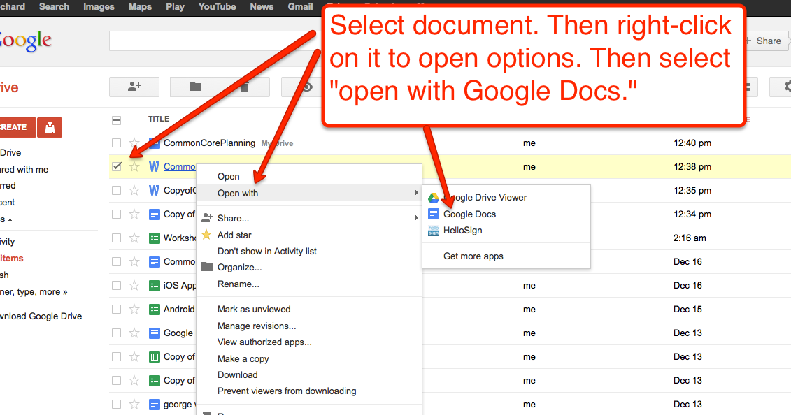 How to Open and Edit Word Files in Google Drive
