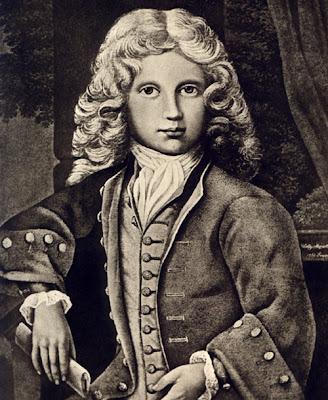 Grabado de Mozart niño