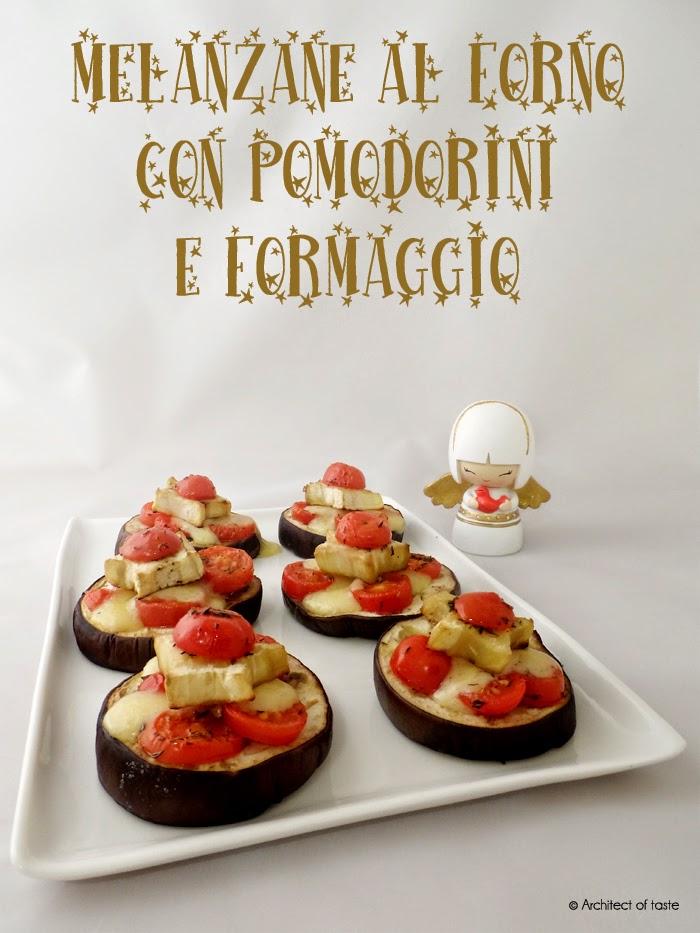 melanzane al forno con pomodorini e formaggio