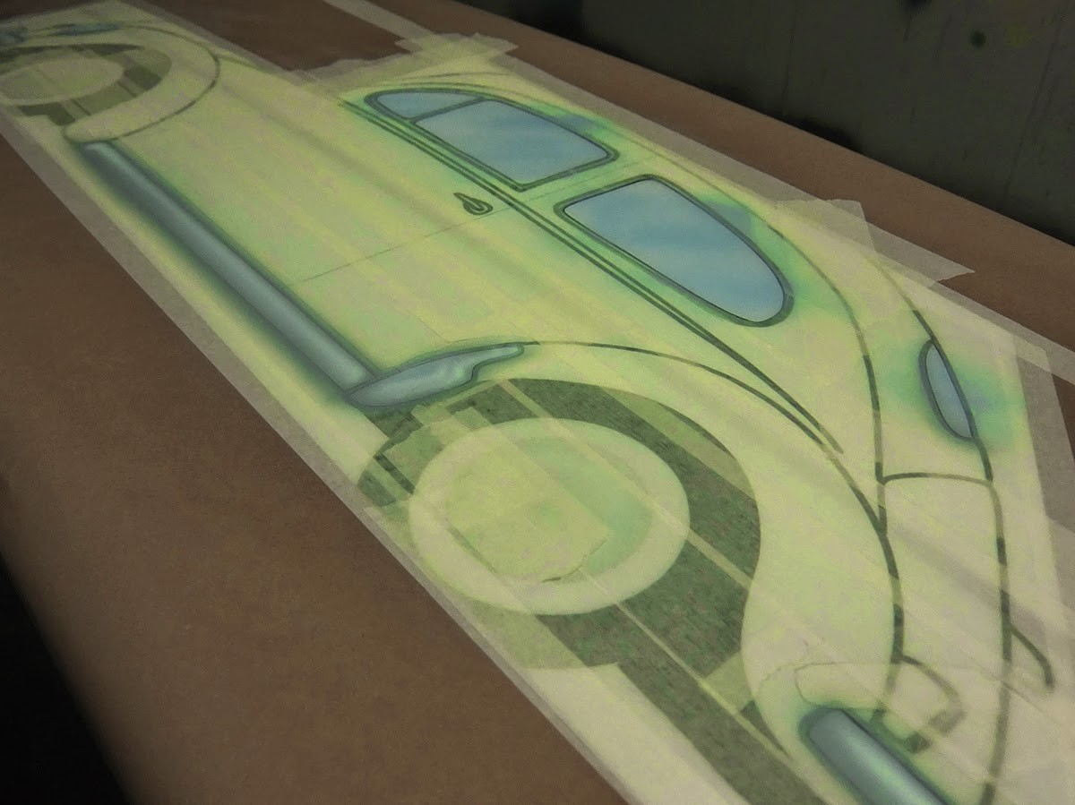 Airbrush, Tape Up, Surfboard, Paints, Surfboard Art