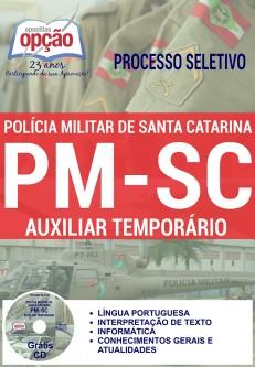 Apostila Polícia Militar de SC 2016 - Agente Temporário de Serviço Administrativo da PMSC