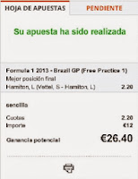 Apuestas Deportivas Rosberg Formula 1 – Gran Premio de Brasil/Interlagos Hamilton Mercedes Luckia