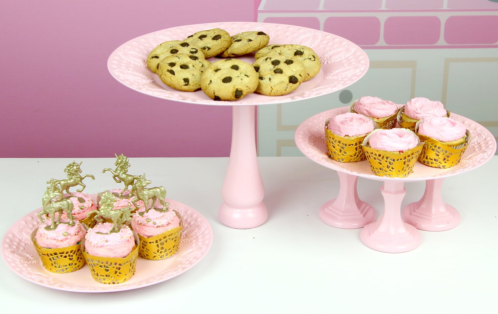 Here is a tall cookie plate with a 3 pedestal stand and a cupcake plate.  sc 1 st  Lindsay Ann Bakes & VIDEO DIY Dollar Store Cupcake Stand - Lindsay Ann Bakes