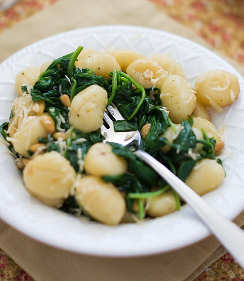 Brown Butter Gnocchi with Spinach ~ Heat Oven to 350