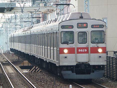 東京メトロ半蔵門線 東武伊勢崎線 準急 久喜行き4 東急5000系