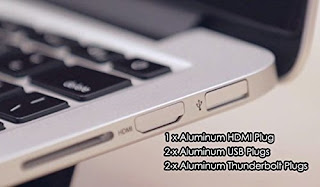 【無駄に高品質】MacBookコネクタに侵入するチリやホコリを防ぐ!アルミの削り出しキャップiHUT-100