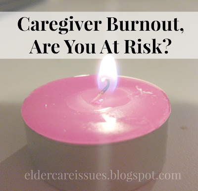 candle burning. Caregiver burnout