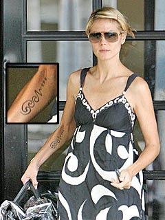 Heidi Klum Tattoos