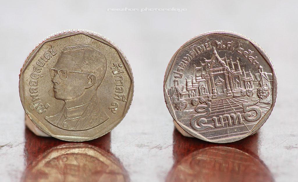 Koleksi duit syiling Thailand 5 Baht (1988-1995)