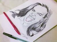 Luciana Leal - desenho com caneta esferográfica nº4