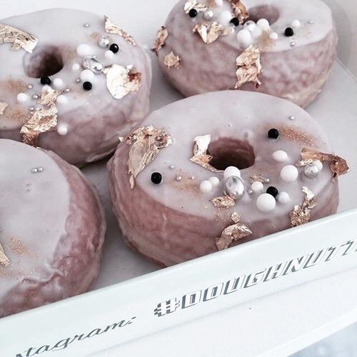 doughnuts + pink + sequins