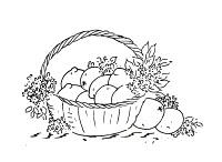 cesta com limoes