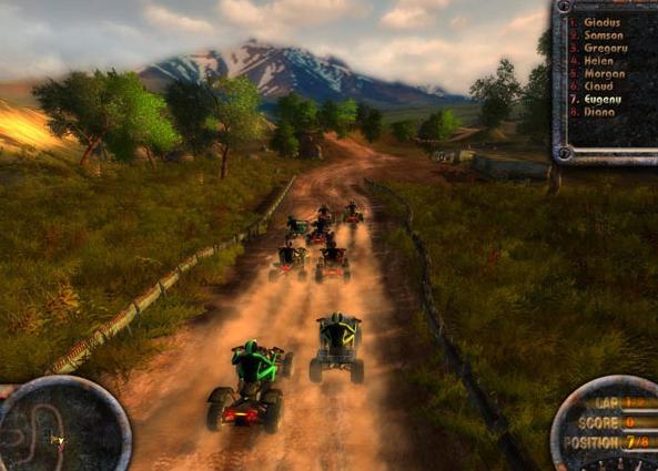 ATV Quadro Racing Balap Motor