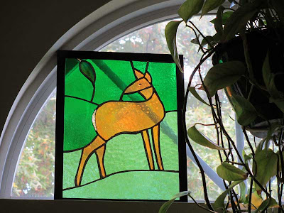 Fawn stained glass