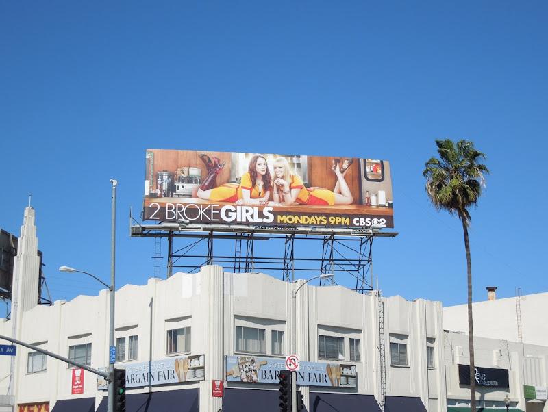 2 Broke Girls season 2 billboard