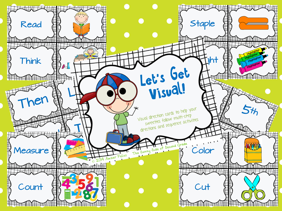 http://www.teacherspayteachers.com/Product/FREEBIE-Visual-Directions-and-Activity-Sequencing-FREEBIE-1368708