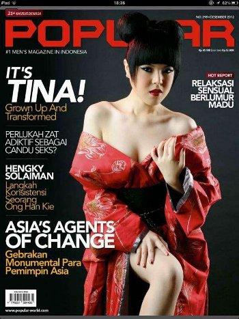 Foto Seksi Tina Toon di Majalah Dewasa Popular