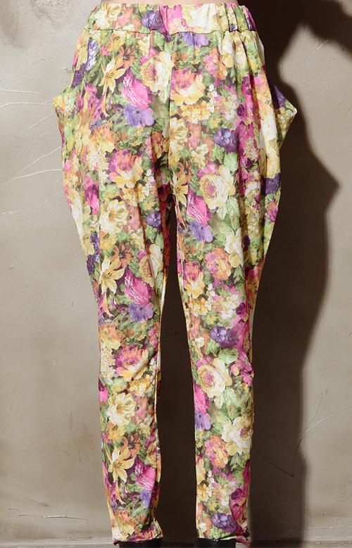 Garden Floral Baggy Pants