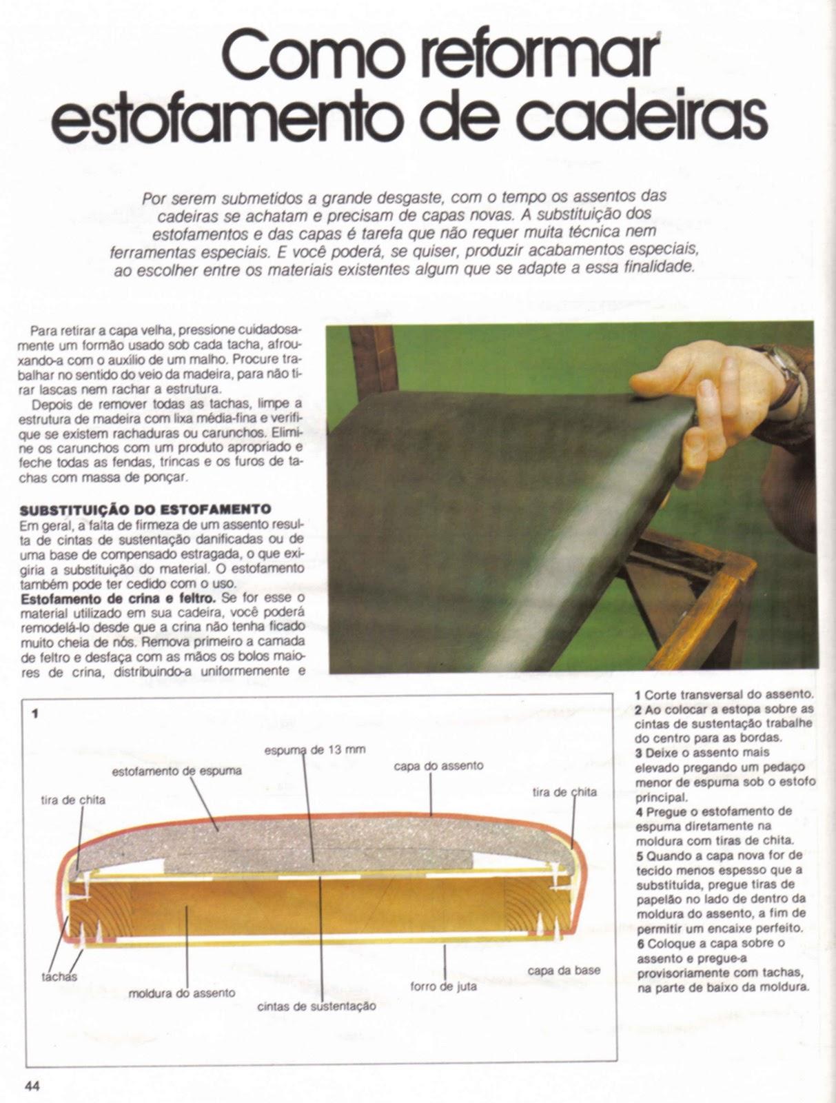 Mundo da Luci: Como Reformar Estofamento de Cadeiras Passo a Passo #9C702F 1213x1600