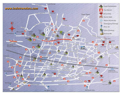 Peta/Maps Kota Bandung di Sekitar UPI bandung Utara, Bandung Kota, Peta bandung, Bandung Barat
