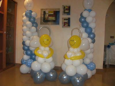 Decoracion con globos para fiestas infantiles decorando - Como hacer decoraciones de bautizo ...