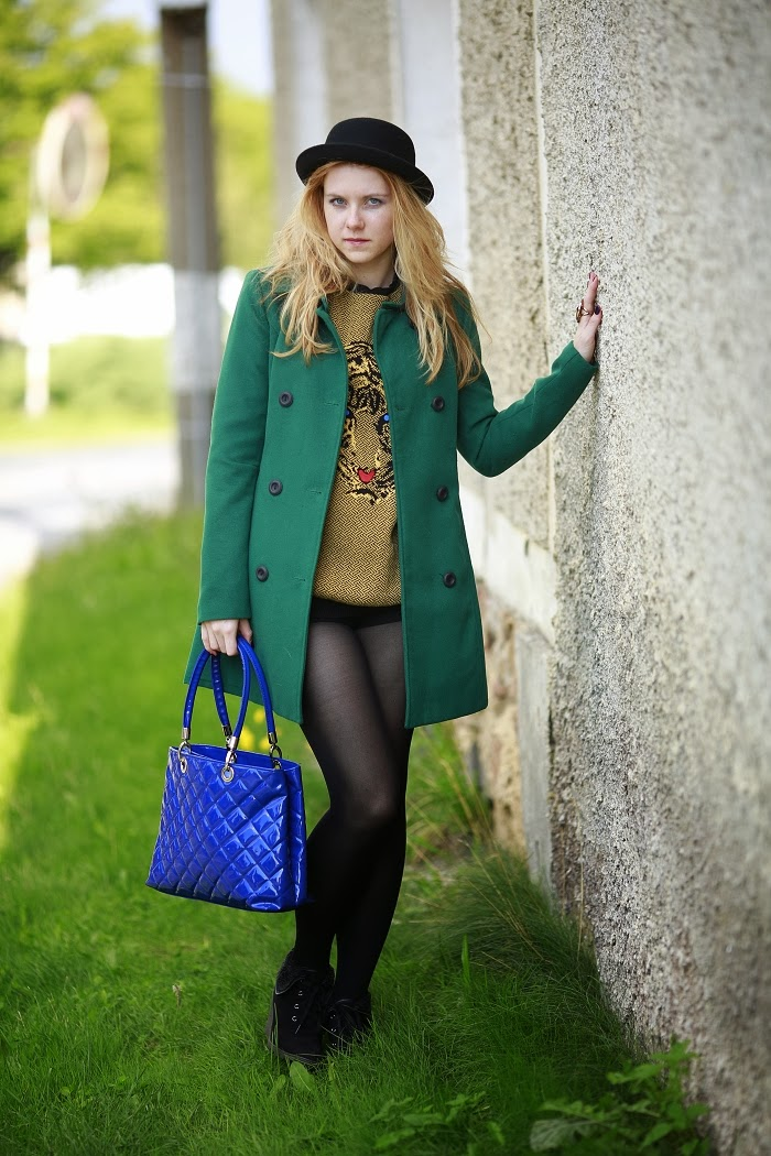how to combine blue and green, lucie srbova, style without limits