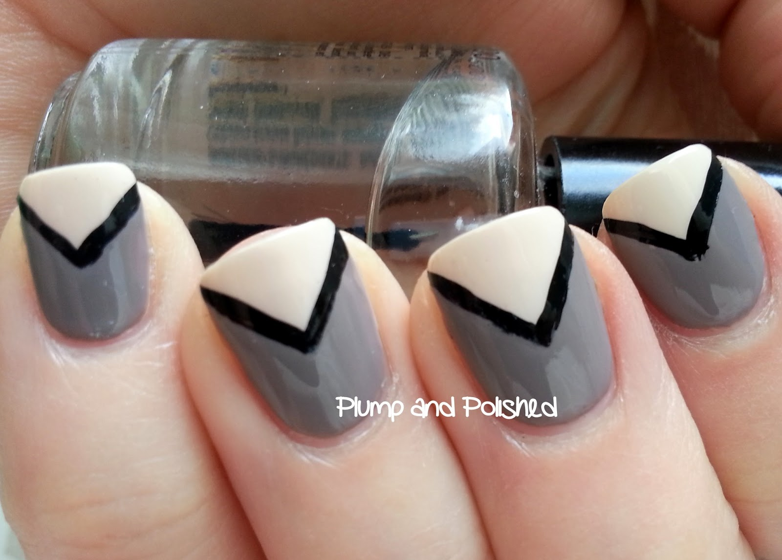 Plump and Polished: Simple Chevron Nail Art