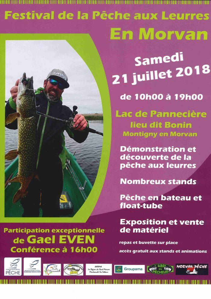 Festival de la pêche aux Leurres en Morvan le 21 juillet de 10h00 à 19h00 au lac de Pannecière