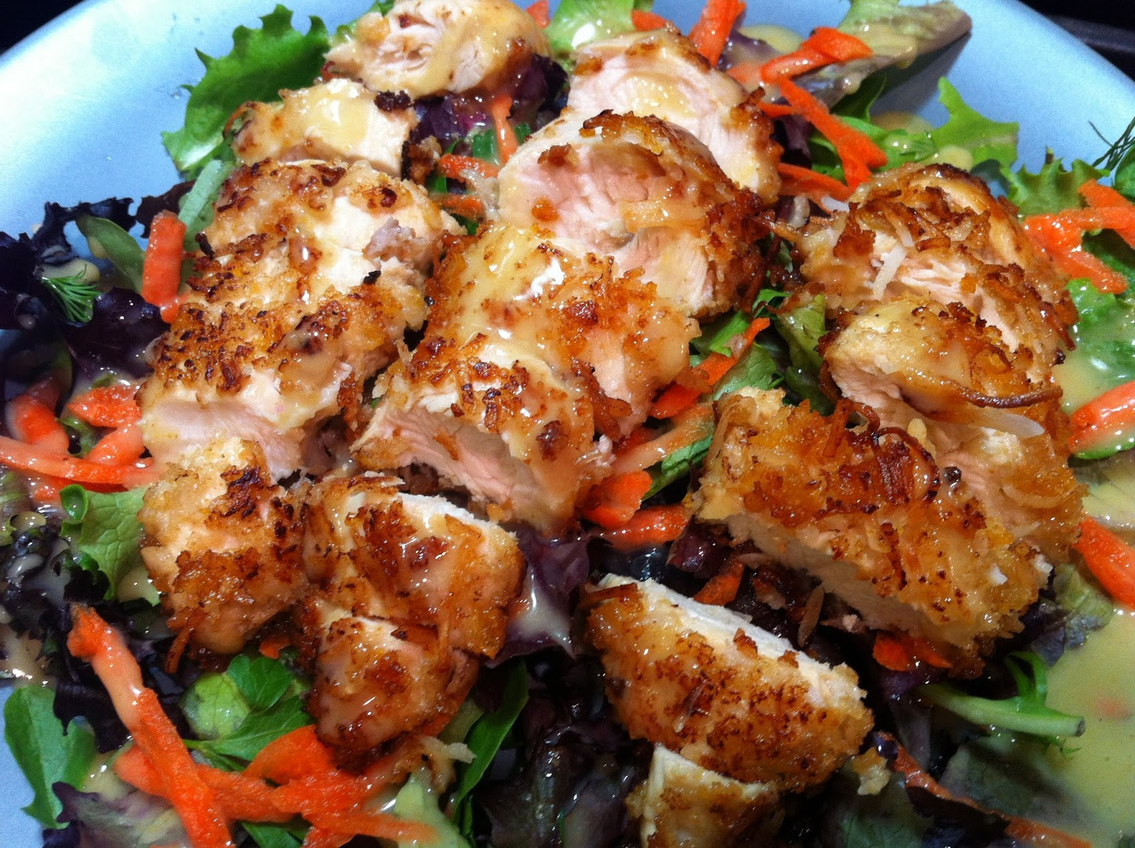Cooking with SAHD: Coconut Chicken Salad with Honey ...