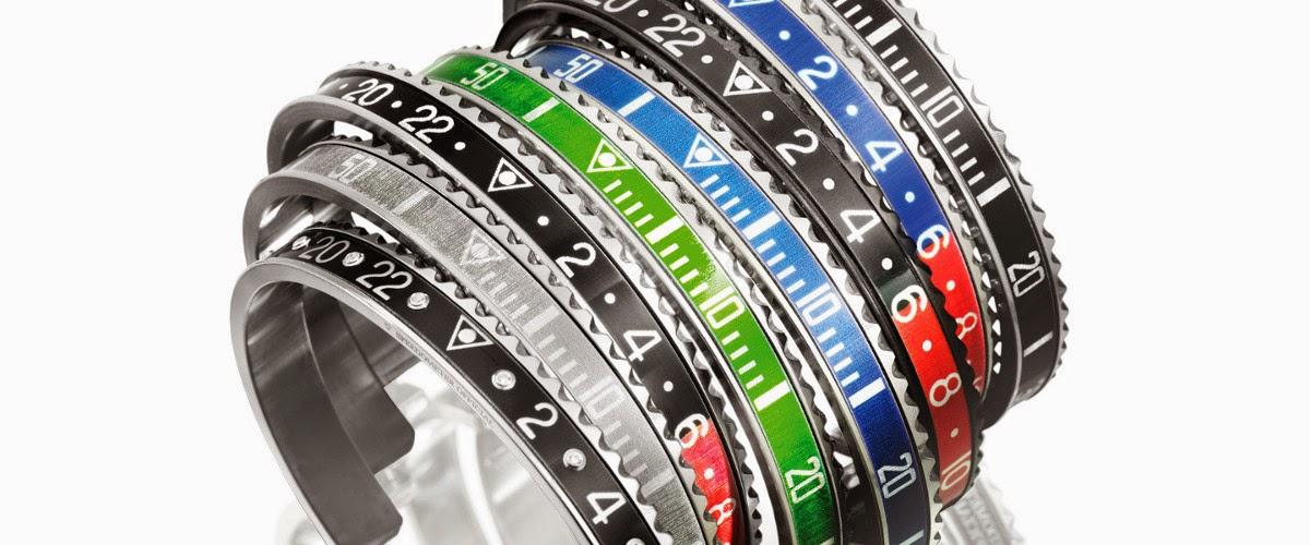 relojes Rolex, la marca presenta una colección de pulseras en oro y acero, con o sin diamantes, la colección Oro pronto estará disponible en la tienda