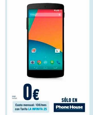 Precio del NEXUS 5 con Yoigo en Phone House Yoigo Tarifas ...