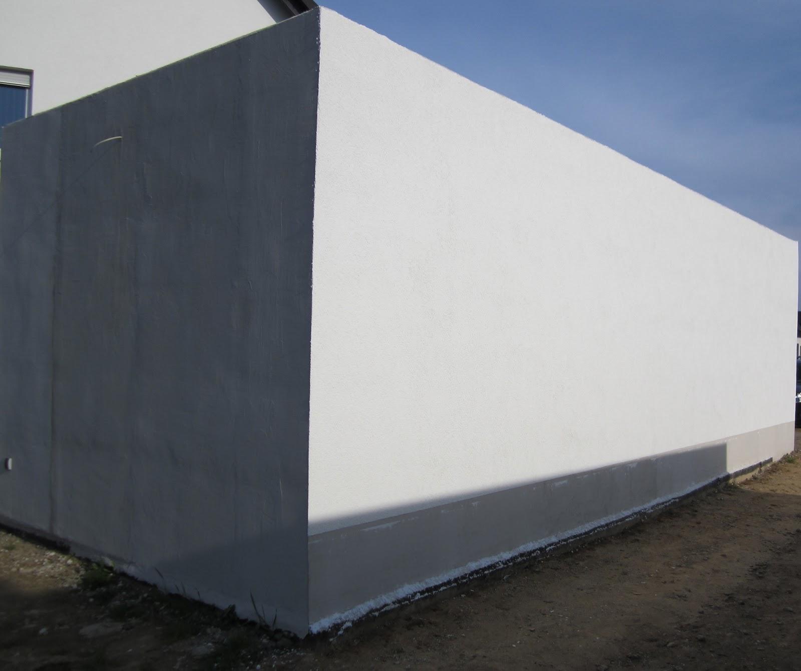 unser hausbau garage in eigenleistung aufbringen des silikatscheibenputzes. Black Bedroom Furniture Sets. Home Design Ideas