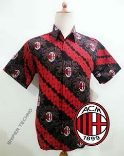 Gambar Baju Batik Bola Ac Milan