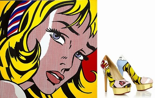 01-Roy-Lichtenstein-Girl-With-Hair-Ribbon-Boyarde-Messenger-Charlotte-Olympia-Dolly-Pumps-High-Heels-www-designstack-co