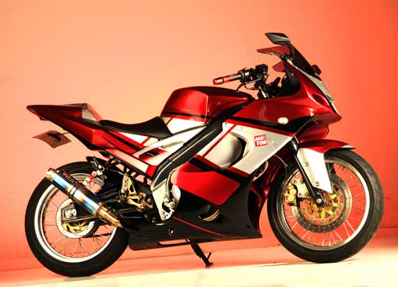Modifikasi New Yamaha Vixion Merah Full Fairing