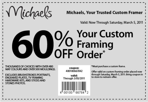 retailmenot coupon codes coupons promo codes free - Michaels Frames Coupons