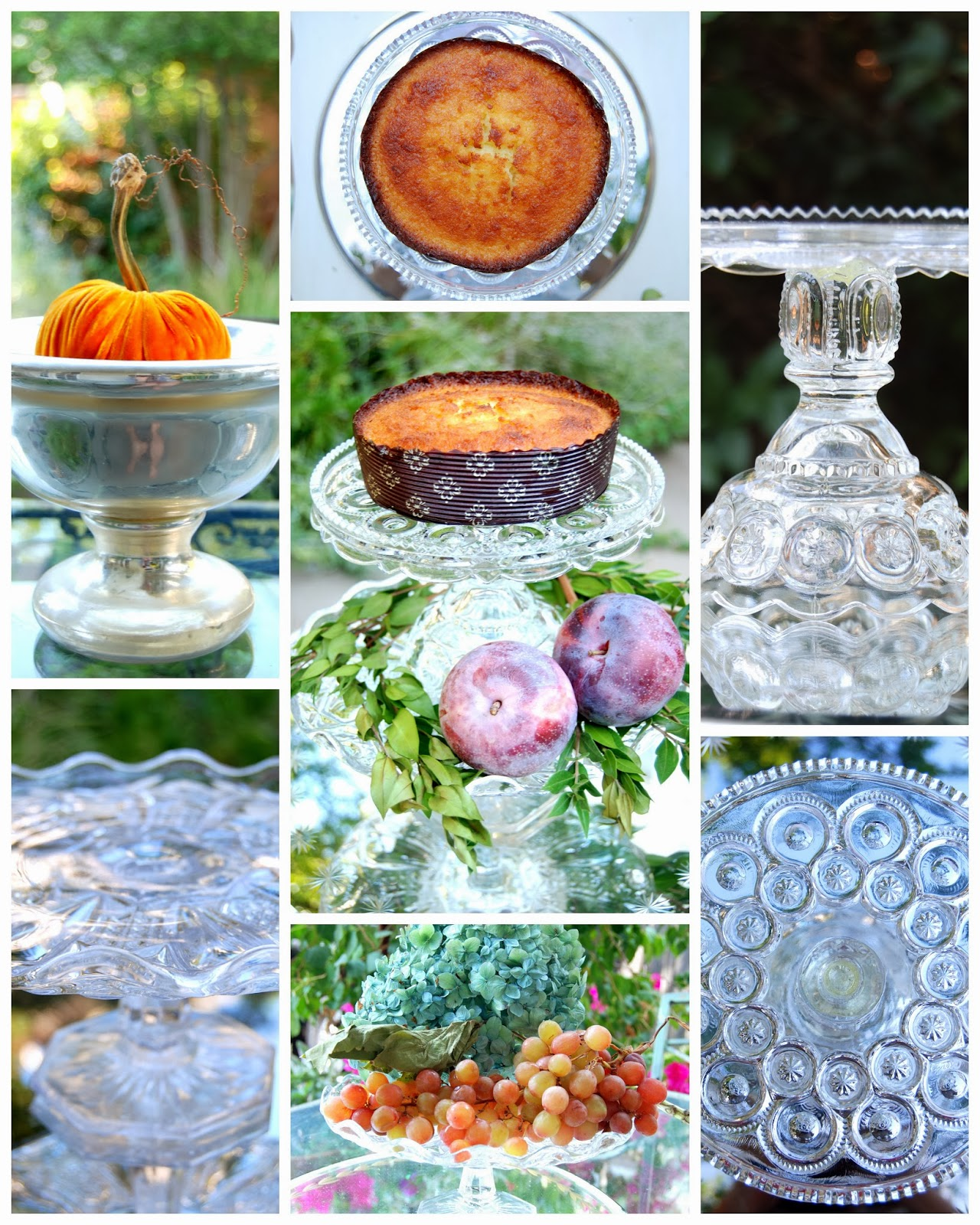 Antique Glass Compotes for Fall