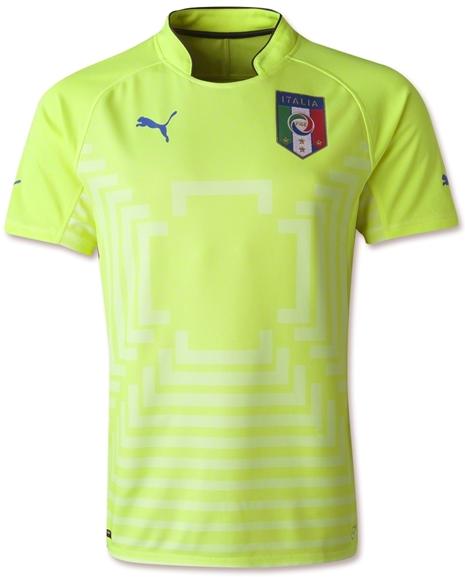 New Jersey Grade Ori GK Italy Kuning Piala Dunia Fifa World Cup 2014