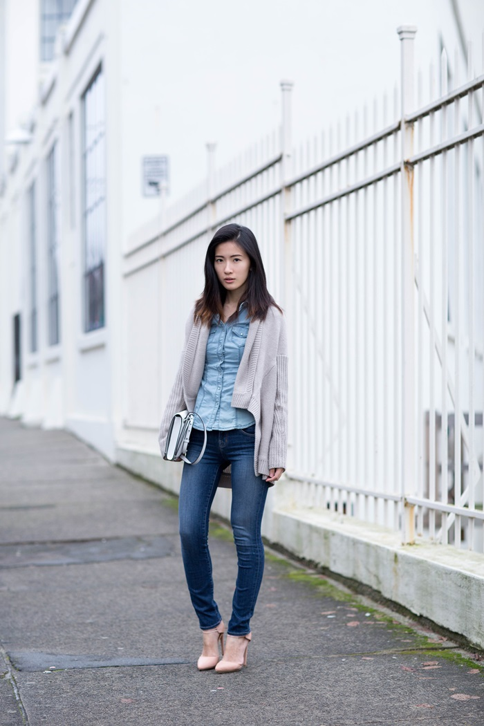 von vogue double denim neutrals