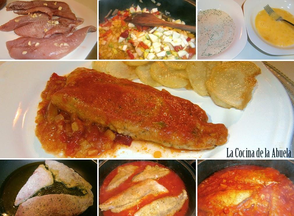 Palometa con tomate la cocina de la abuela for Cocinar con 20 soles