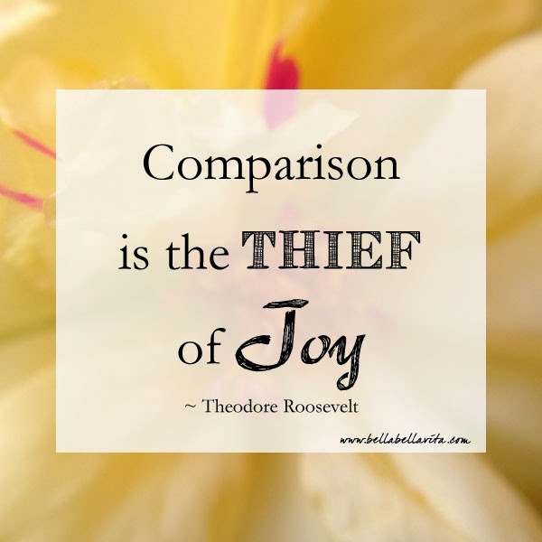 "Theodore Roosevelt quote ""comparison is the thief of joy"""